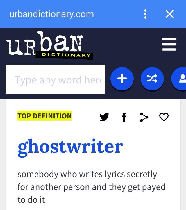 "I Ain't Afraid of No GhostWriter…Wait, Define ""Ghostwriter"